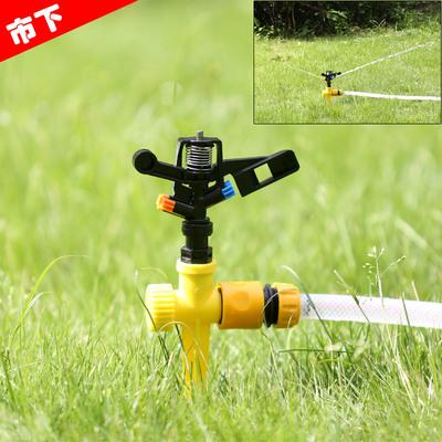 4分旋转双喷头微喷灌溉喷头园艺浇花草坪喷洒降温喷头配件喷雾头