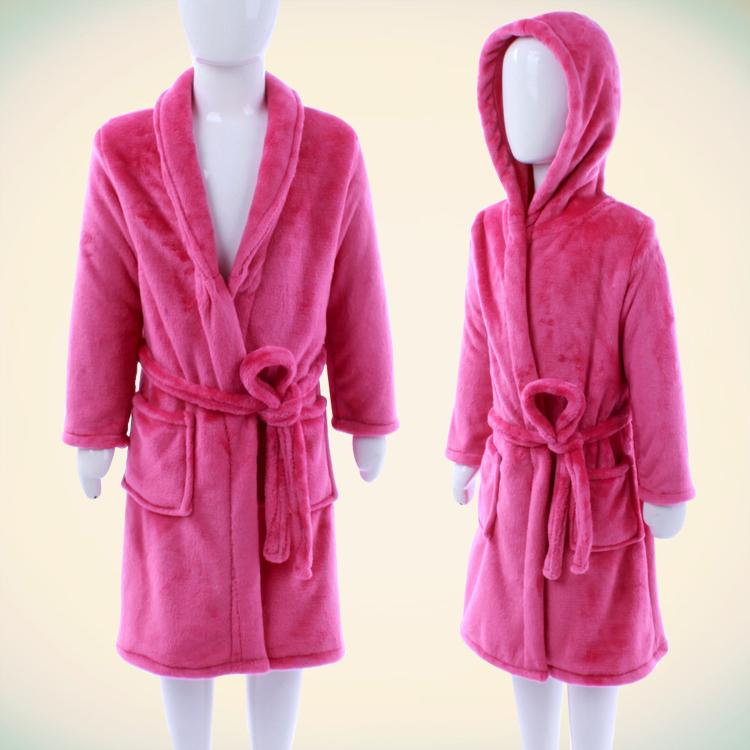 法兰绒婴儿睡袍 宝宝睡衣 幼男女儿童浴袍春秋冬季加厚长袖珊瑚绒