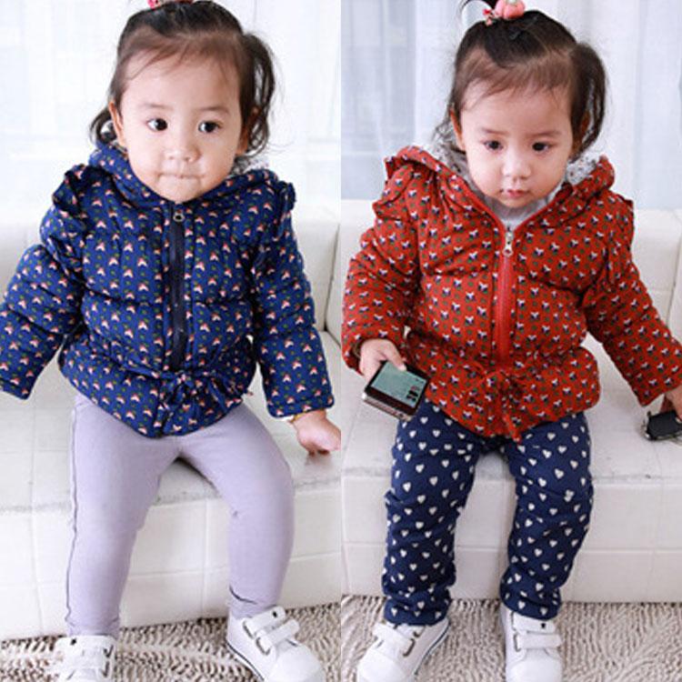 12.8 新品冬款 韩版0-3岁女童 民族风点点碎花长袖装 童外套