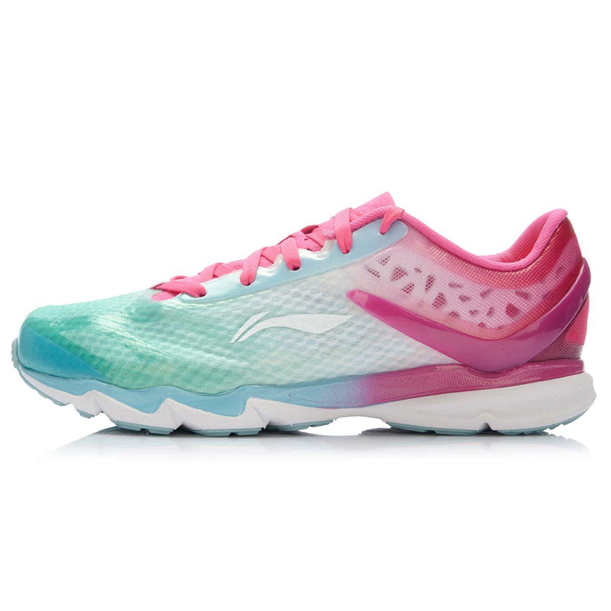 聚 李宁女鞋跑步鞋2015秋季新款超轻12代女子透气运动跑