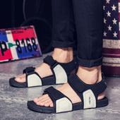 沙滩鞋 户外男凉鞋 夏季韩版 男士 休闲拖鞋 越南鞋 2016新款 皮凉鞋 凉鞋