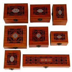 镂空珍藏品首饰包装盒珠宝饰品木质盒子DIY手串佛珠保养收纳盒