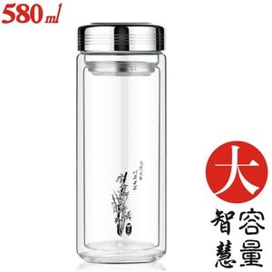 茶杯双层玻璃杯正品防漏旅行创意水杯刻字diy礼品