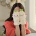 手套女冬可爱韩版毛绒卡通半指学生全指手套加厚触屏冬季男手套