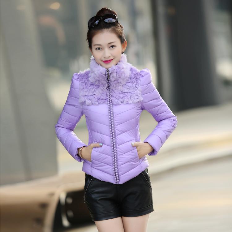 2014冬装新款女装外套棉衣女短款棉服韩版大码修身连帽加厚棉袄潮