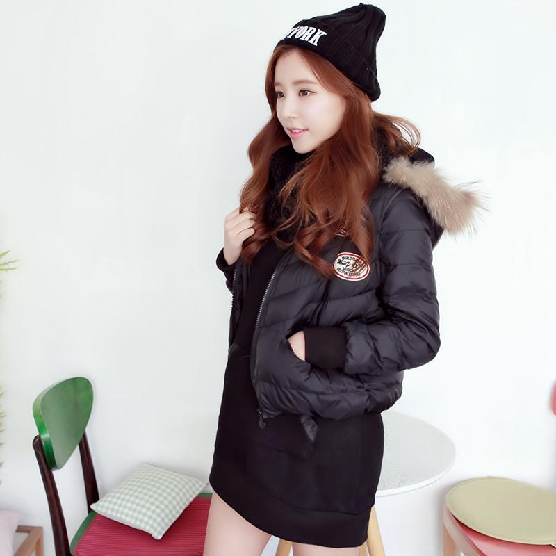 2014冬装新款棉衣女两件套韩版中长款棉服棉袄加厚外套潮