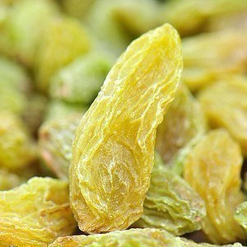 2014年新货 特级大粒新疆绿香妃葡萄干 树上黄 3斤包邮