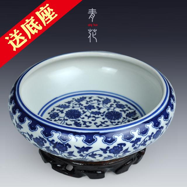 小植物 景德镇水仙花盆 碗睡莲盆缸 烟灰缸 陶瓷缸 乌龟缸金鱼缸