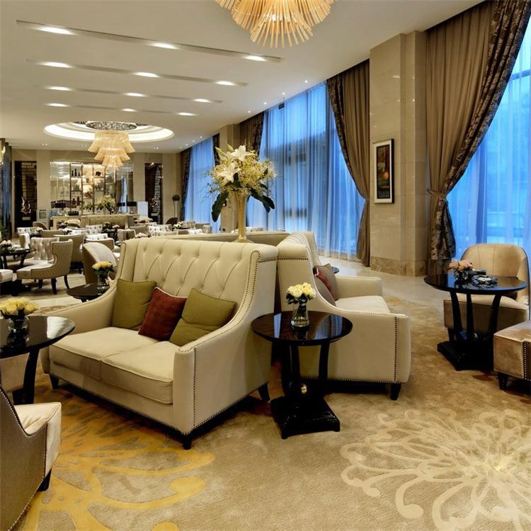 简约欧式售楼处洽谈桌椅组合现代西餐厅美容院休闲会客接待沙发椅