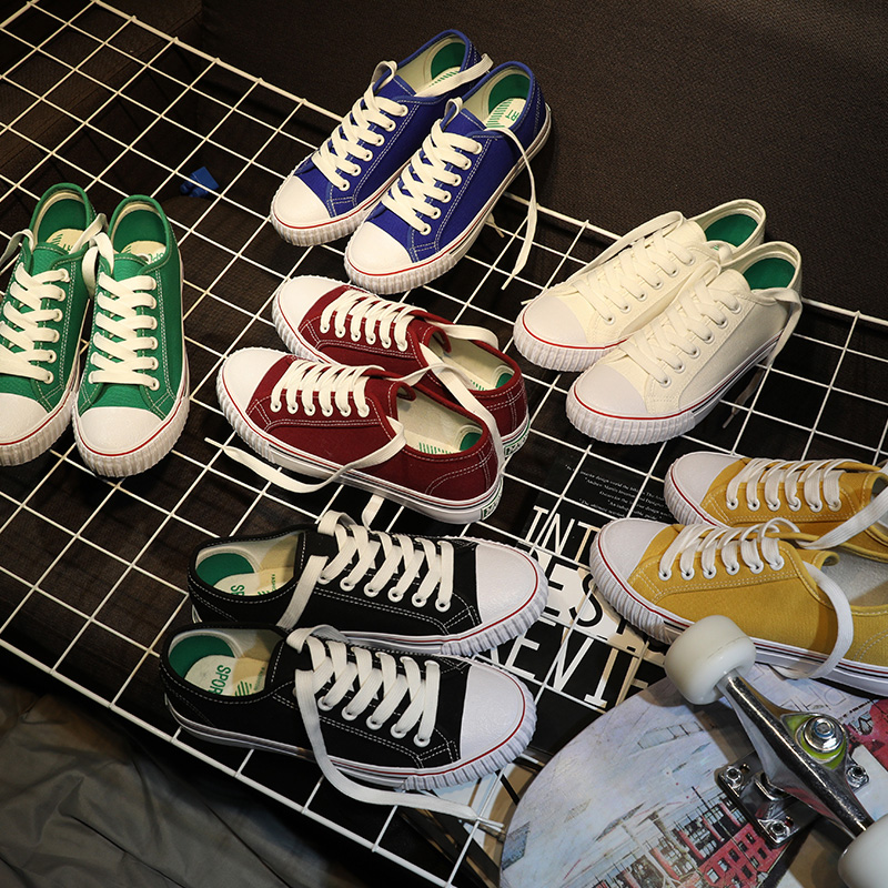 春季女學生韓版百搭鞋子帆布鞋