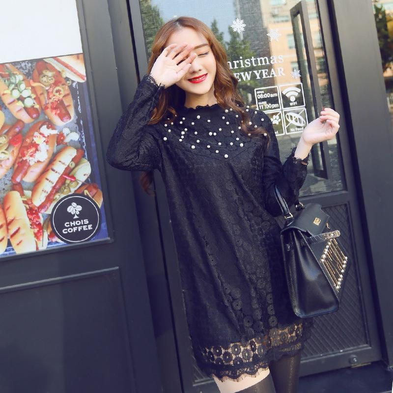 2015年春季立领甜美蕾丝勾镂空花A字短款连衣裙