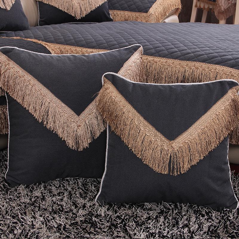 罗迪妮 奢华抱枕 欧式绣花靠垫床头靠垫套沙发靠枕含芯加大订制