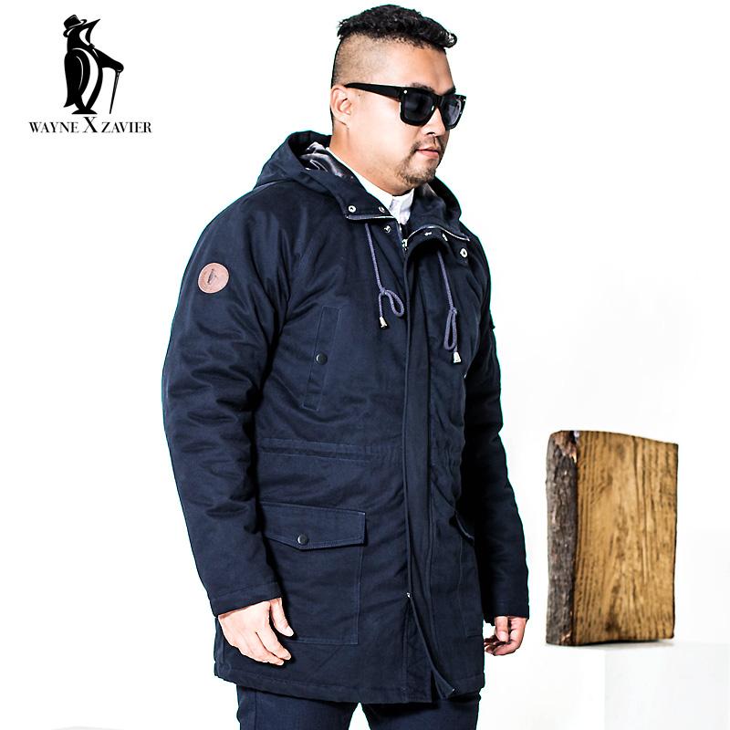 冬季胖子风衣加厚大衣男装加大外套维尔加肥长款恩泽