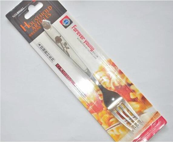 正品日美不锈钢餐叉 饭叉 小勺子 刀叉餐具80601