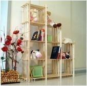包邮实木架子花架简易书架墙壁置物架格架储物架鞋架多层隔断宜家