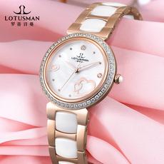 罗蒂诗蔓旗舰店法国Lotusman品牌手表 陶瓷耐磨女表  高档时尚女装情人节定制表
