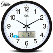 康巴丝客厅挂钟日历石英钟个性静音挂表时尚钟大创意钟办公室钟表