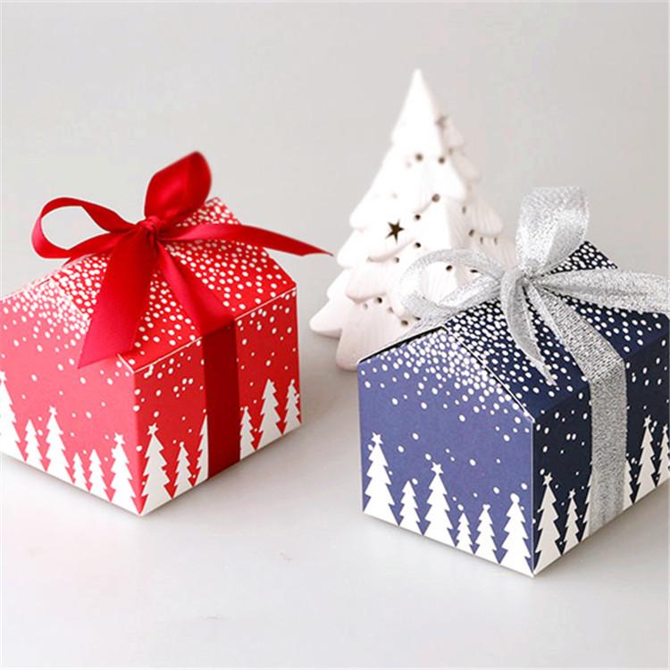 圣诞节小房屋造型饼干盒包装食品 纸盒可定做特色创意喜糖盒2款