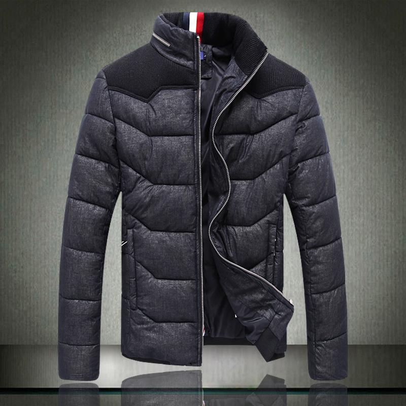 棉衣 韩版修身时尚男士短款保暖羽绒棉服 加肥加大码