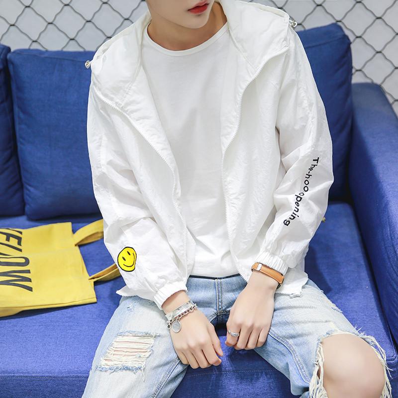 潮流夏季防晒透气超薄衣男韩版青少年学生情侣外套