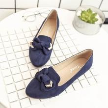 女士平底鞋 子浅口休闲鞋 女百搭女鞋 粗跟鞋 韩版 春季复古尖头单鞋