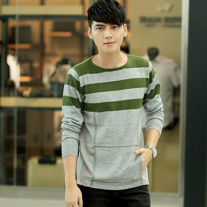 男士羊绒衫 圆领羊毛衫 100%纯山羊绒衫 套头针织衫 正品新款毛衣