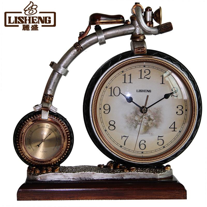 丽盛欧式古典创意座钟 杂技车造型座钟 个性座钟贺礼台钟 1401M