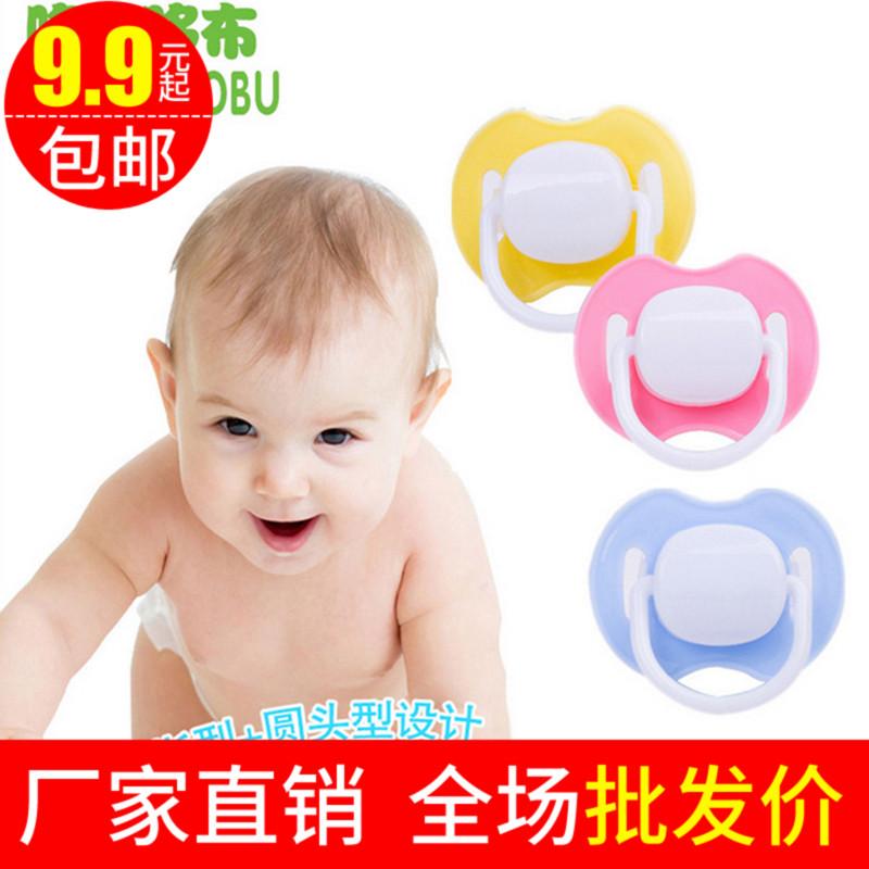 适合各阶段婴儿安全硅胶安抚奶嘴 安睡型安慰奶嘴带硅胶盖批 发价