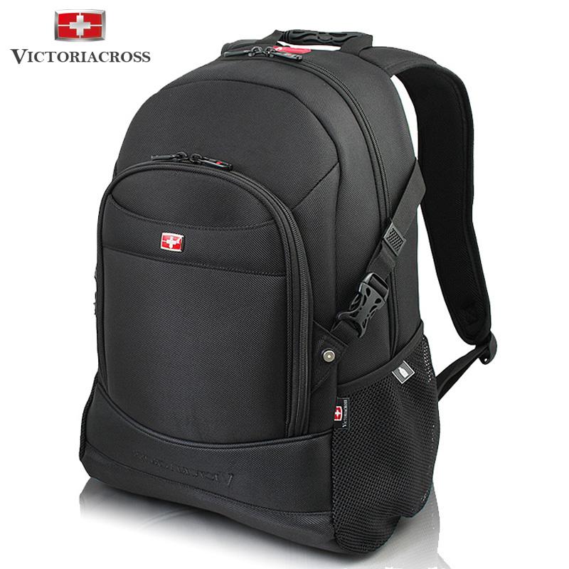 维士十字商务双肩包 男士休闲包瑞士军刀旅行背包学生书包电脑包