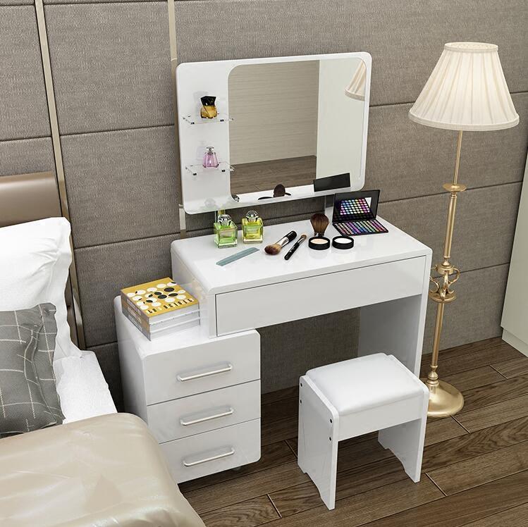 snow coiffeuse avec abattant miroir et rangement achat. Black Bedroom Furniture Sets. Home Design Ideas