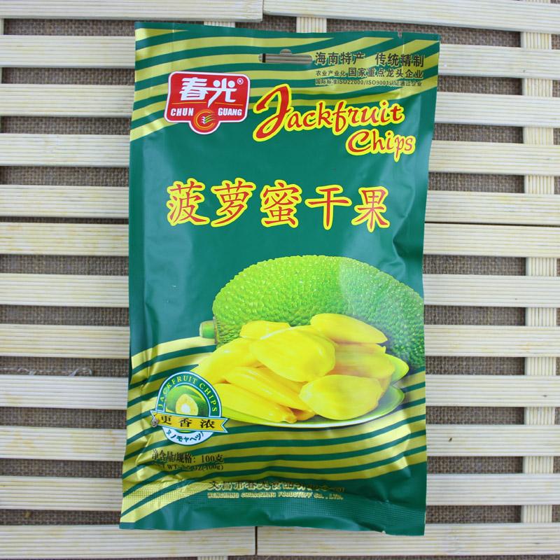 满88元包邮春光 菠萝蜜干100g 天然香脆 休闲零食小吃 海南特产