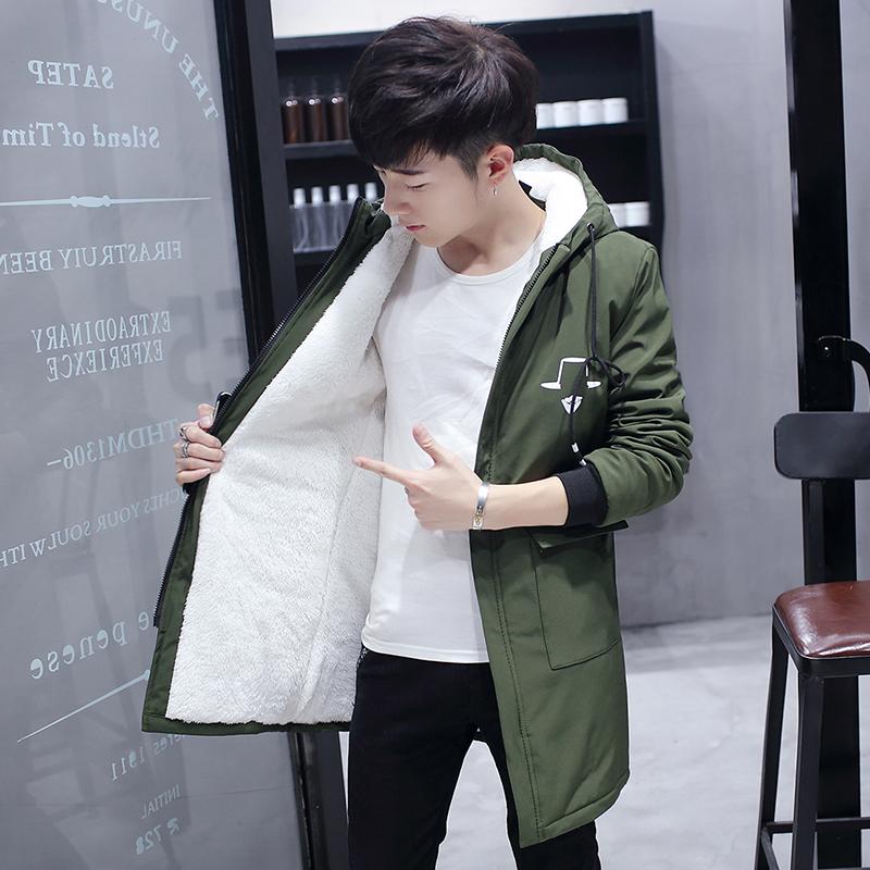 外套男冬季加绒韩版风衣青年冬装衣服男士加厚男装2017新款夹克潮