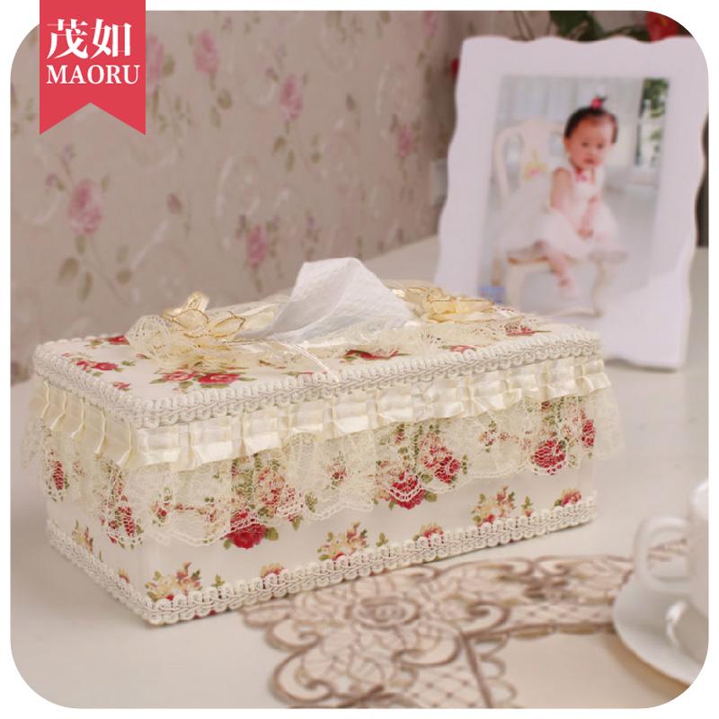2个起包邮高档创意欧式蕾丝纸巾盒抽纸盒餐巾纸盒布艺厕所卷纸筒
