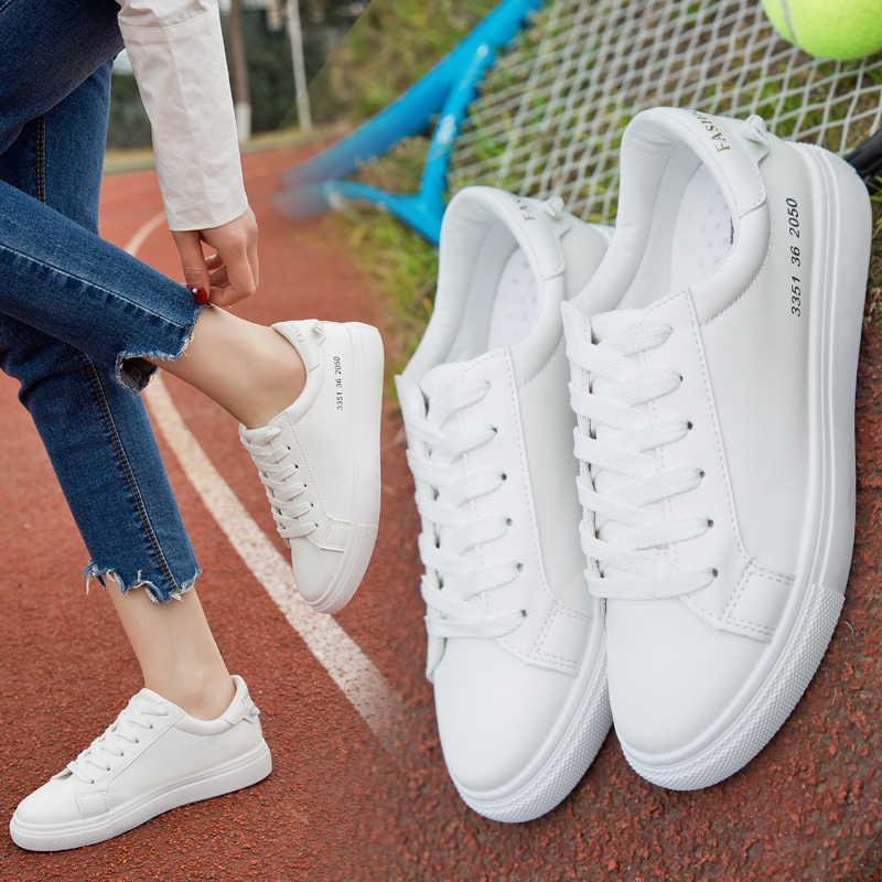 学生鞋子休闲鞋帆布鞋平底韩版小白鞋女春季白色