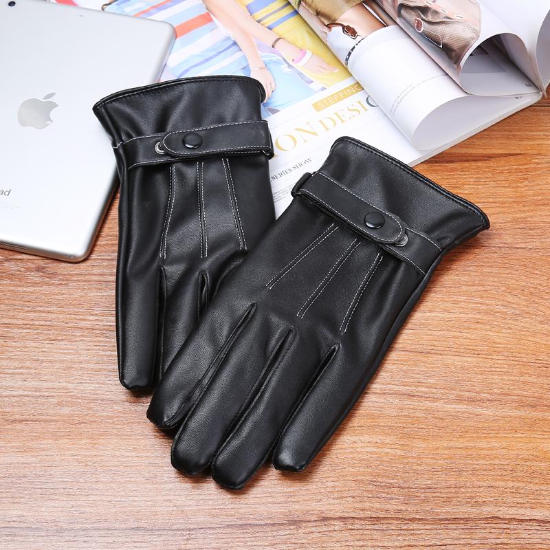 男士皮手套修手皮手套男触屏修手春秋冬加厚加绒手套时尚保暖防寒