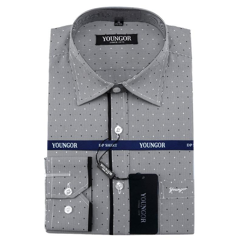 正品长袖衬衫中年男装2014秋款商务休闲纯棉免烫大码衬衣