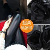 韩版2016秋冬女装时尚性感打底黑色皮裤显瘦加绒加厚弹力外穿裤子