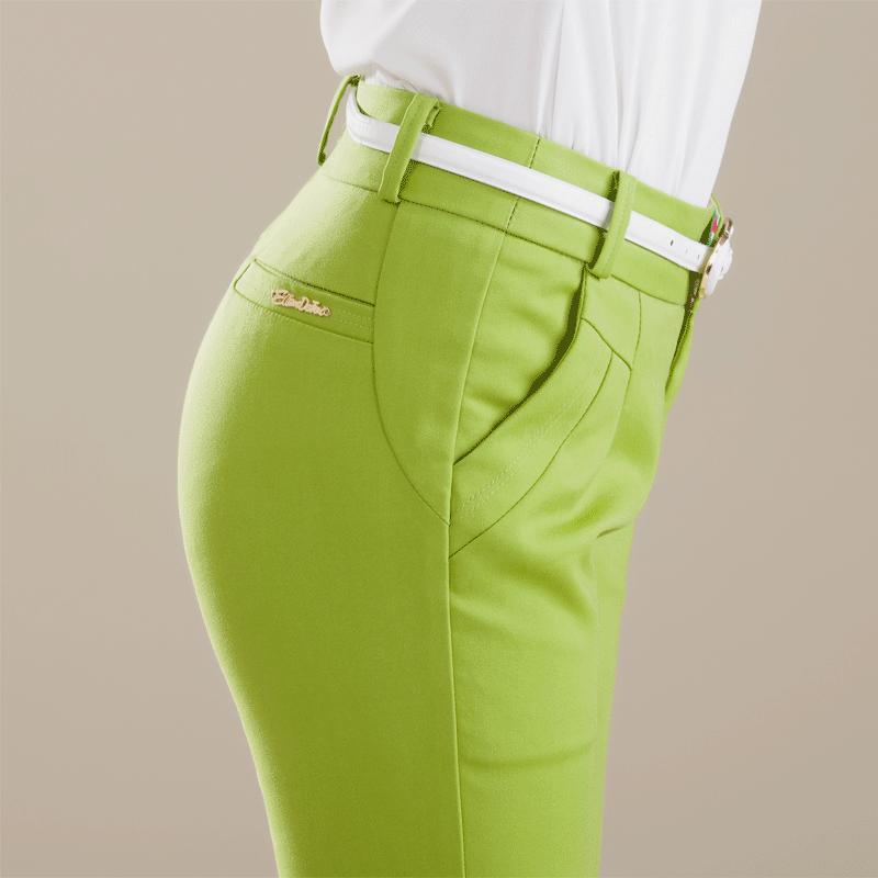 2014新款糖果色长裤彩色女裤秋款通勤休闲女装铅笔小脚裤子显瘦