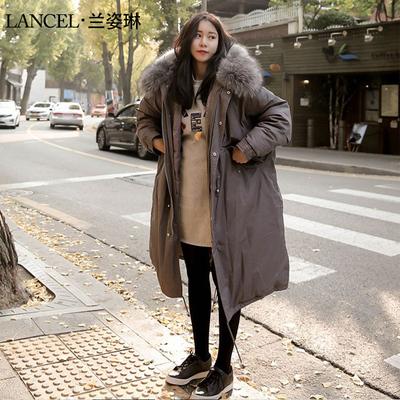 冬季外套女装2017韩版中长款大毛领加厚棉衣新款学生棉服过膝棉袄