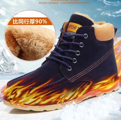 2014正品爆款冬季韩版雪地靴男士棉鞋男靴 潮流保暖男鞋反绒短靴