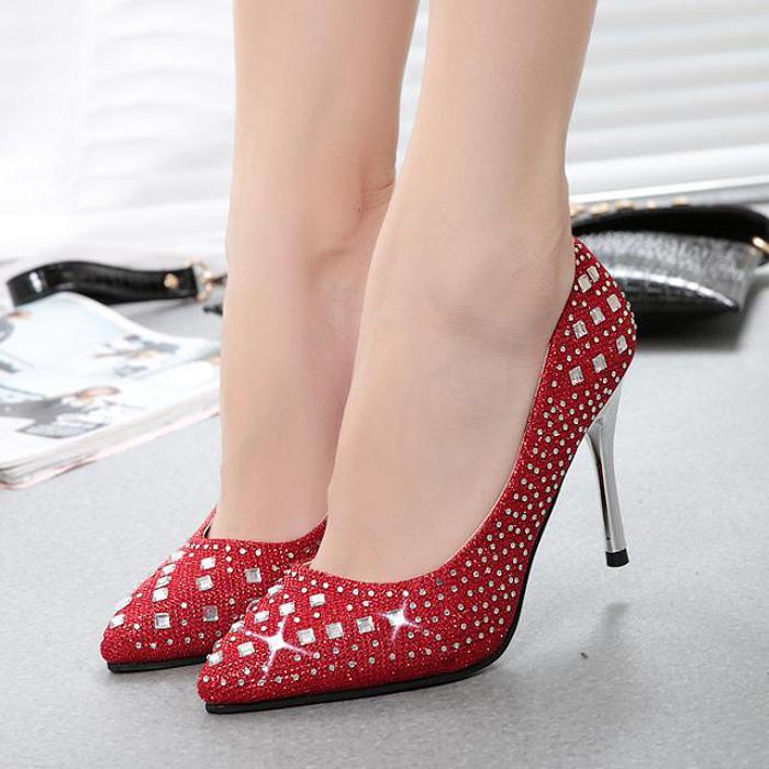 低帮鞋 女浅口鞋韩版潮2014夏季新款一脚蹬懒人鞋 高跟鞋尖头单鞋
