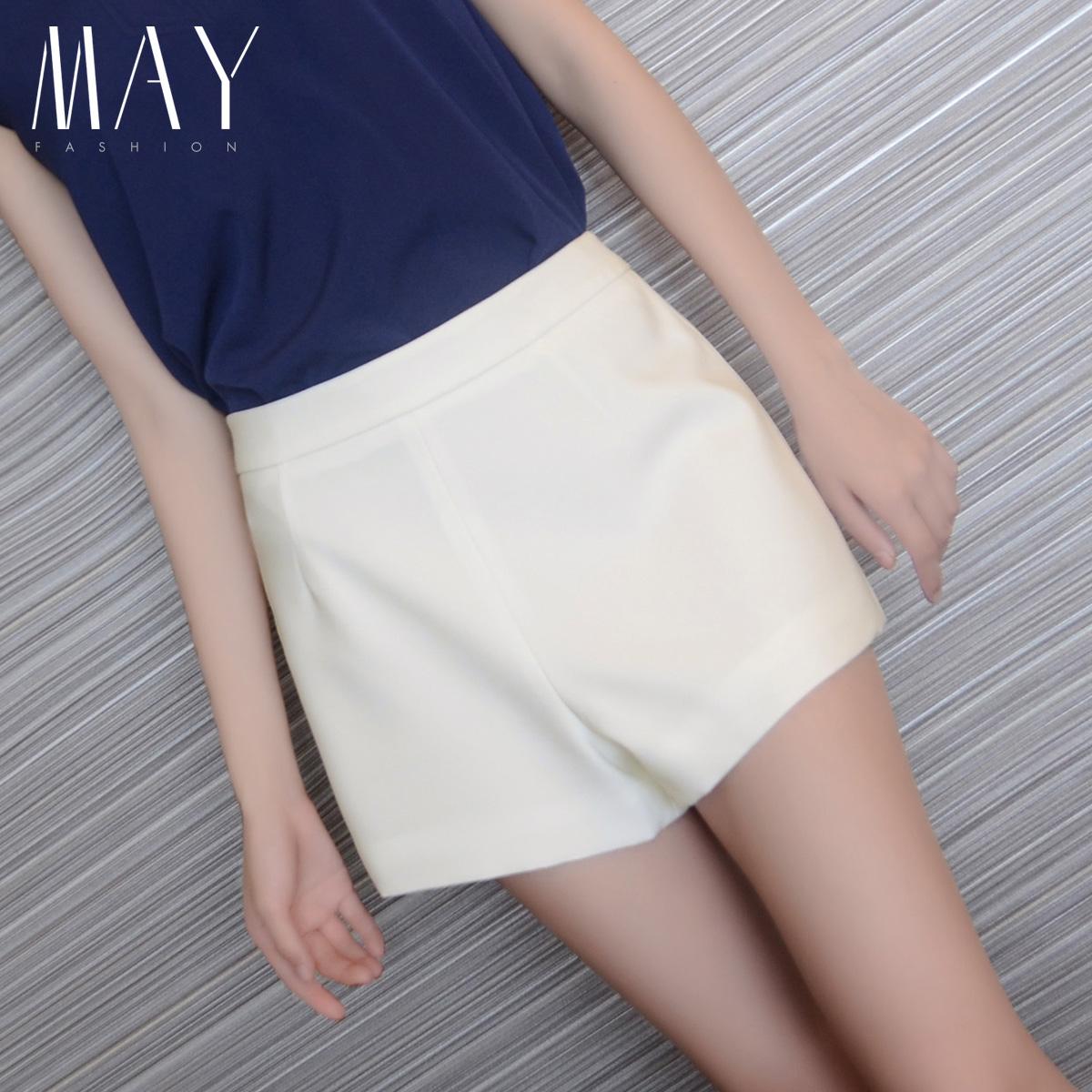 2014新款夏季韩版高腰女式休闲短裤显瘦白色大码热裤子女士潮