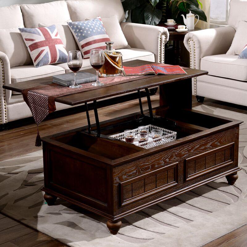 客厅全实木茶几电视柜组合