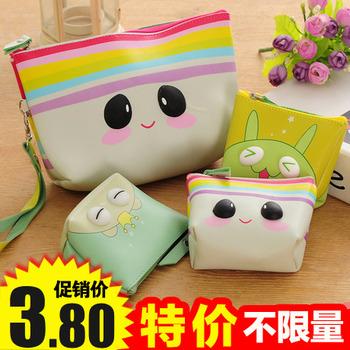 韩国可爱大容量零钱包化妆包女防水手拿化妆品收纳包洗漱包化装袋