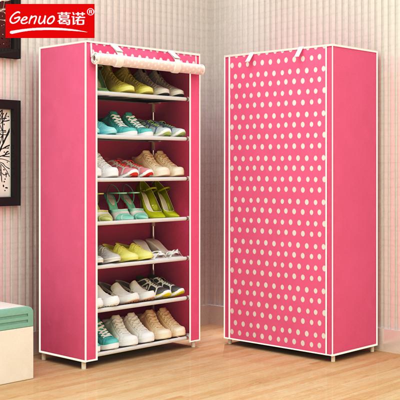 简易学生鞋架多层特价钢管组装门后小鞋架宿舍客厅经济型收纳鞋柜