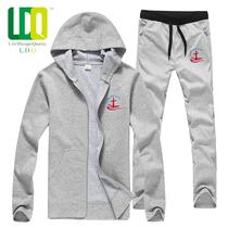 LDQ春秋款男士外套青少年 连帽韩版开衫学生卫衣套装 男 潮