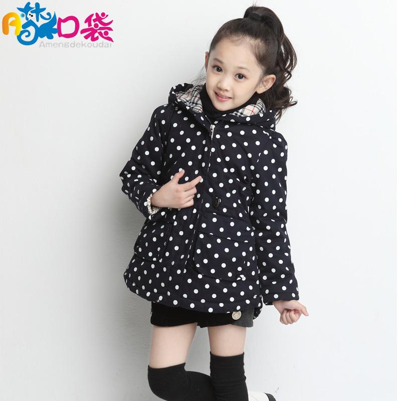 女童装秋冬装A梦的口袋正品 品牌童装中长款加厚外套棉服优惠特价