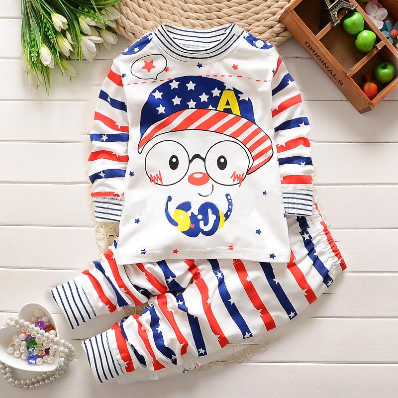 儿童空调女童内衣夏装纯棉宝宝套装睡衣夏天长袖