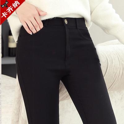 黑色外穿打底裤女秋冬加绒加厚铅笔裤弹力小脚裤长裤子大码紧身裤