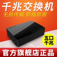 腾达5口千兆交换机>百兆4口家用宿舍交换器监控网线分线器SG105